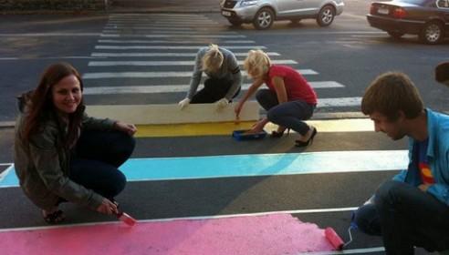 Пешеходные переходы раскрасят
