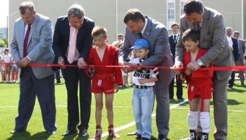 Открытие нового стадиона около школы №36, Тамбов