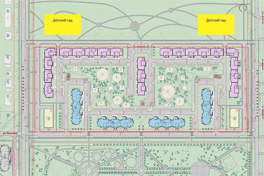Проект микрорайона Олимпийский в Тамбове