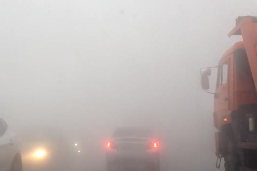 Порыв теплотрассы на бульваре Энтузиастов в Тамбове