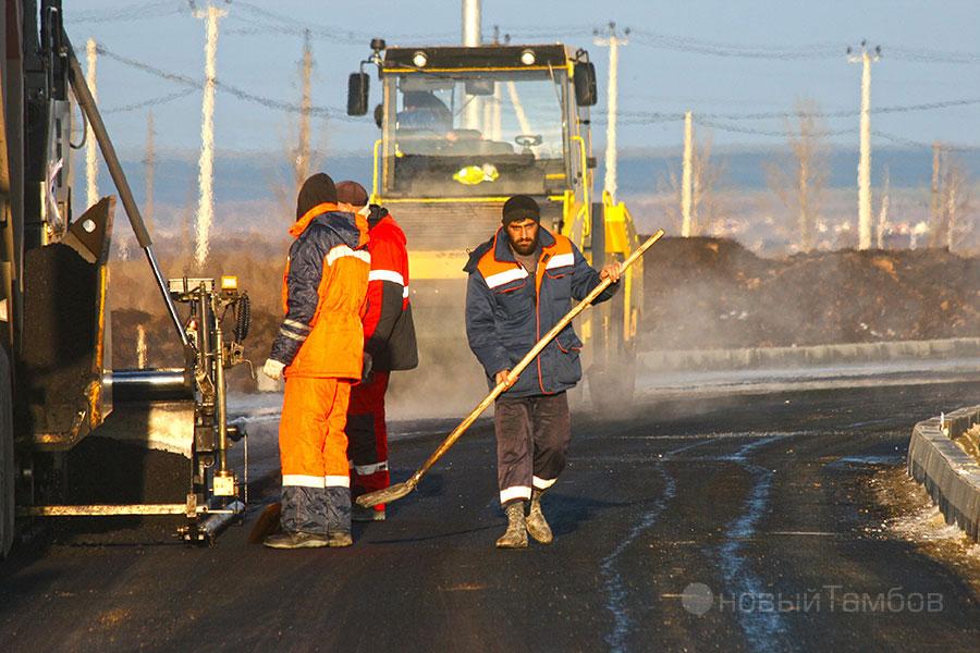 Строительство дороги. Улица Запрудная на севере Тамбова. ©Новый Тамбов