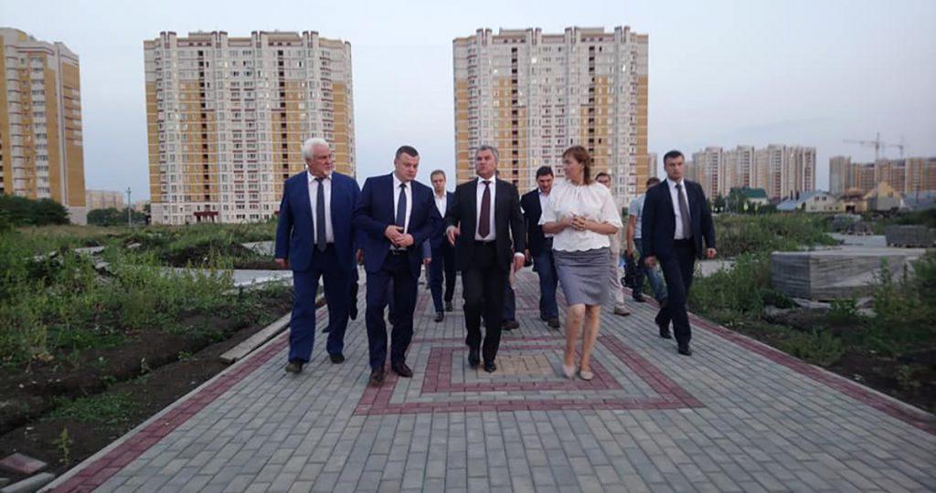 Вячеслав Володин в Олимпийском парке