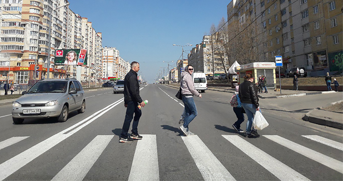 Пешеходный переход на Чичерина