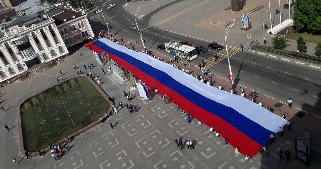 В Тамбове развернули триколор, фото Сергея Жилина - Новый Тамбов