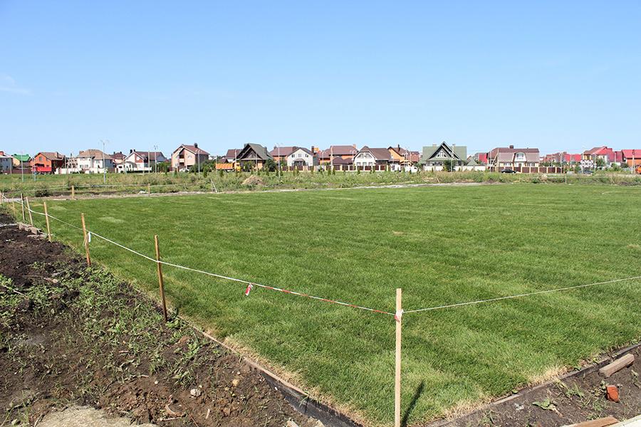 Футбольное поле в Олимпийском парке