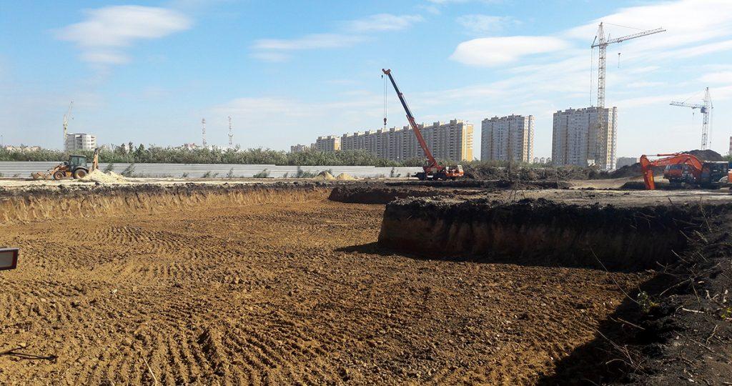 Стройплощадка №2 на Селезневской, строительство детского сада