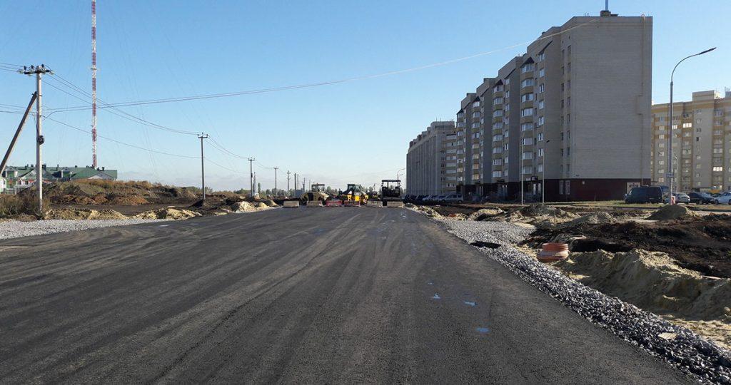Асфальтирование улицы Агапкина