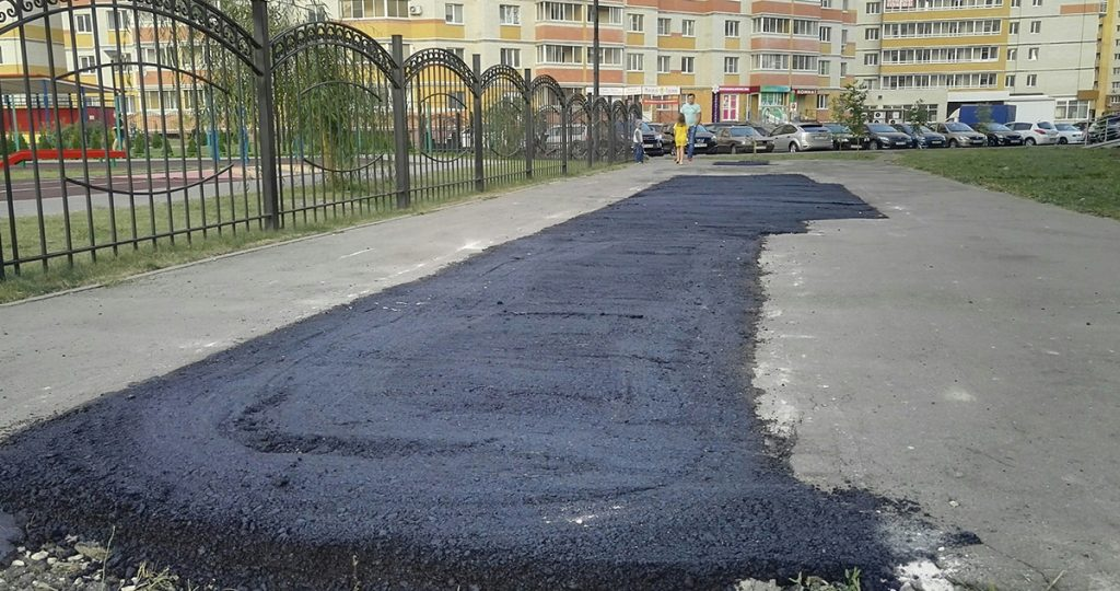 Асфальтирование тротуара на Агапкина