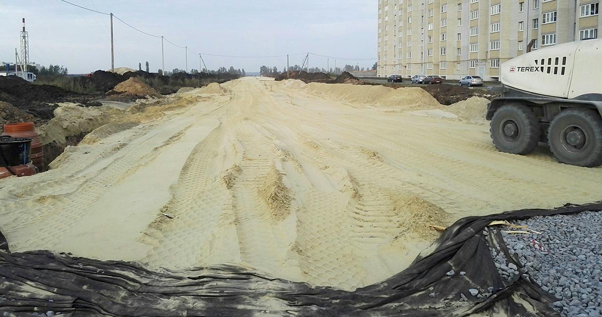Строительство улицы Агапкина