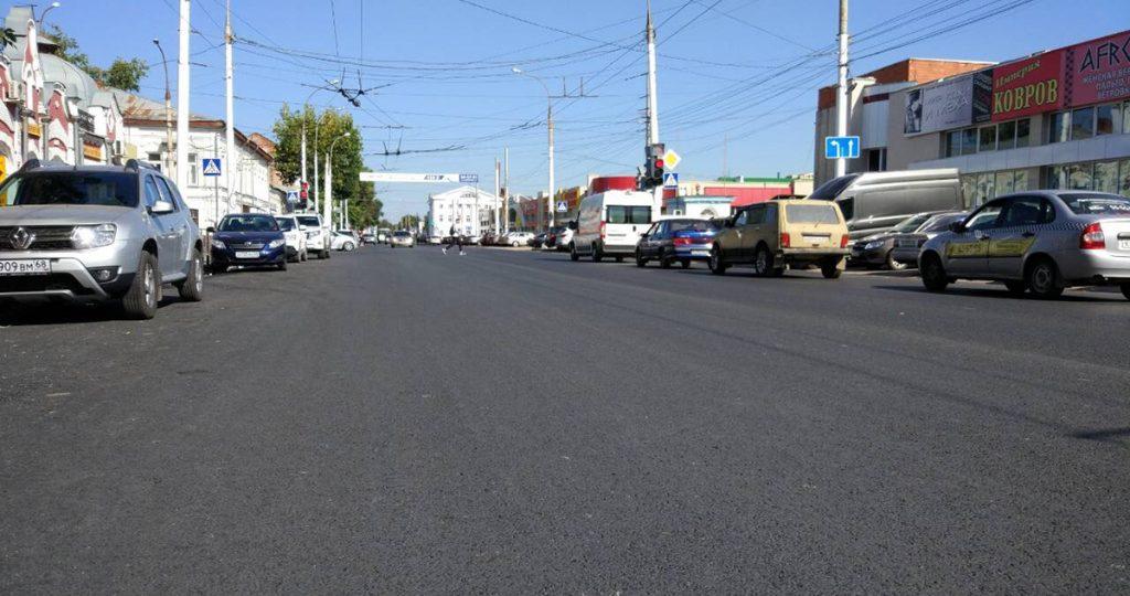 Ремонт дороги на Октябрьской