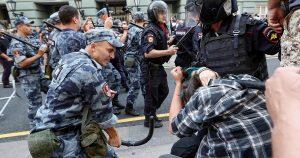 Протесты против повышения пенсионного возраста, фото meduza.io