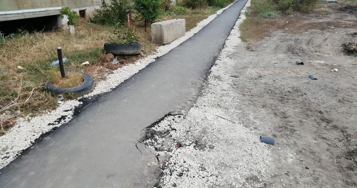 Тротуарная дорожка в Строителе