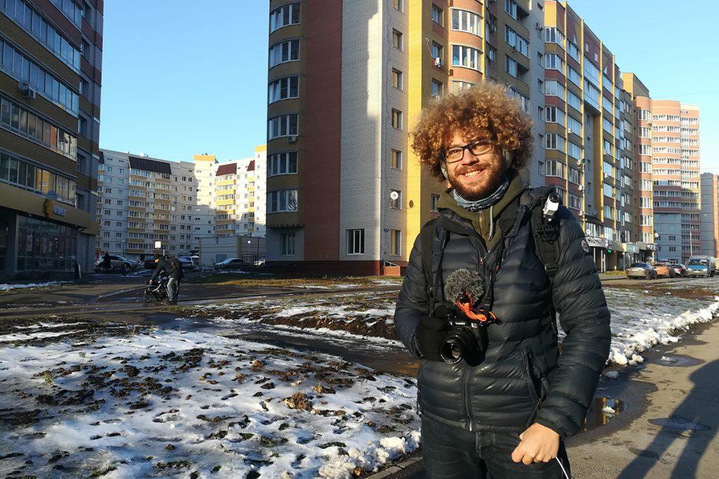 Илья Варламов в микрорайоне Уютный - Новый Тамбов. Фото Влада Горина.
