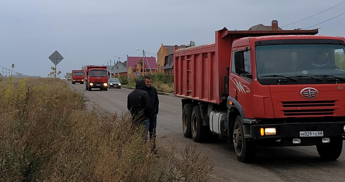 Начало строительство дорог в Майском
