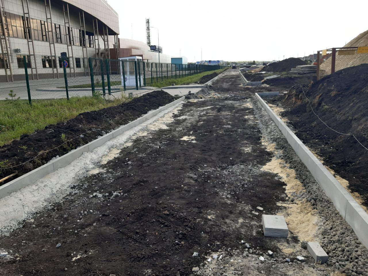 Строительство тротуара на Селезневской