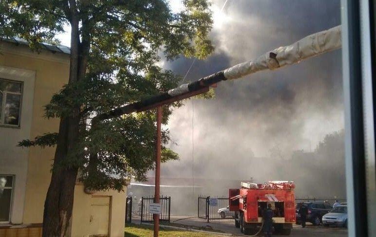 Пожар. Фото Подслушано в Тамбове