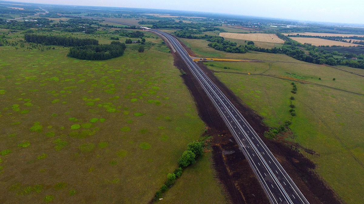 Новая дорога в обход села Изосимово в Тамбовской области