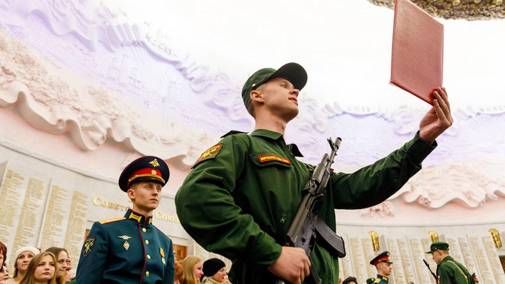 Семеновский полк. Военная присяга