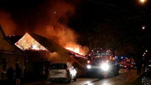 Пожар на Лысогорской в Тамбове