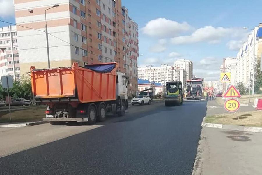 Асфальтирование улицы Победы в 2020 году