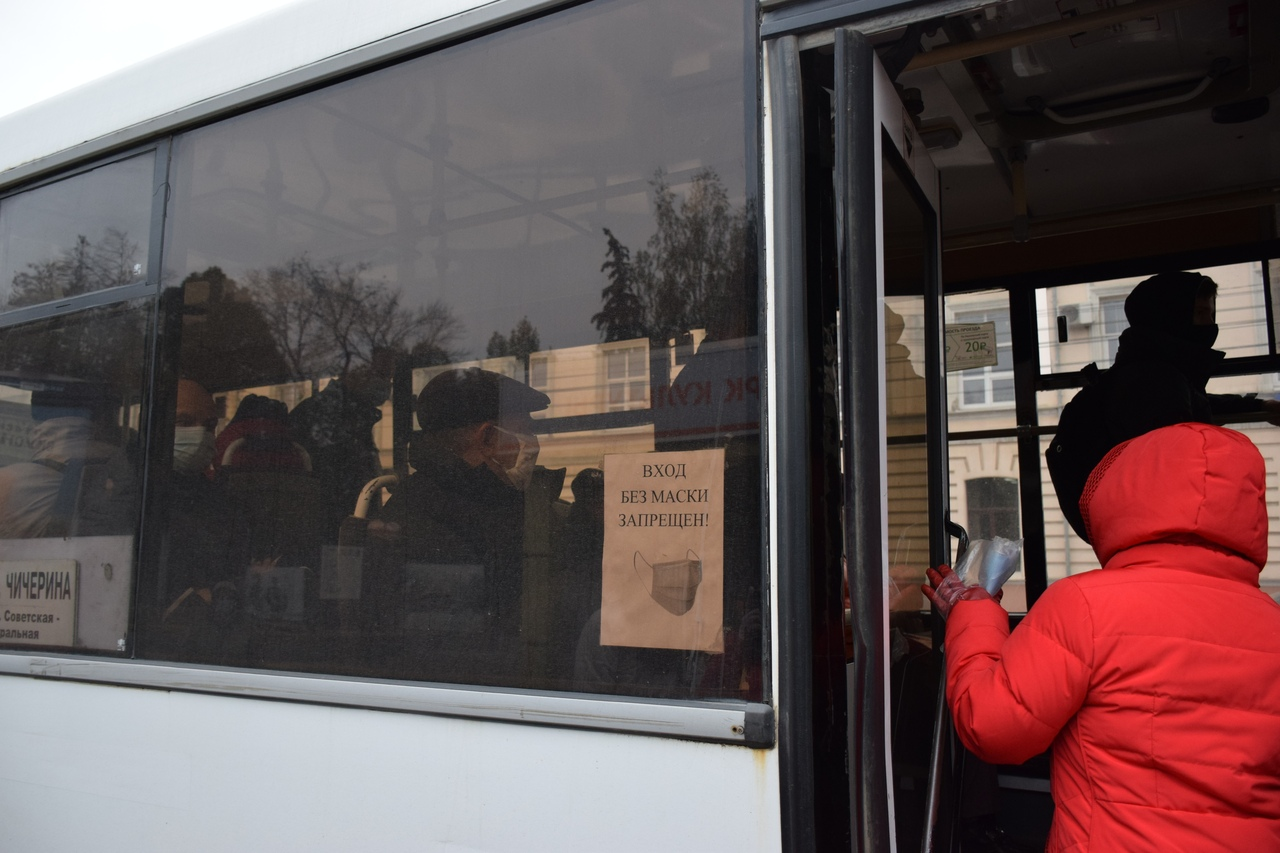 Общественный транспорт в Тамбове в условиях пандемии