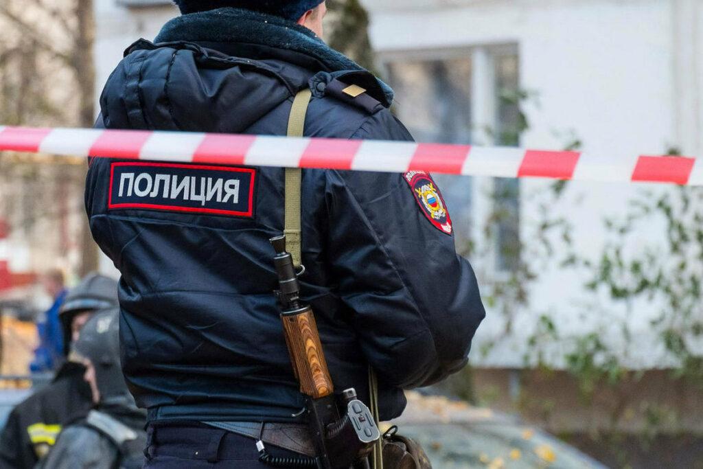 Работа полиции на месте преступления. Фото Obzor.io
