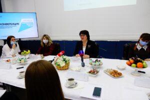 Пресс-конфренция в управлении образования и науки Тамбовской области, 2021 г. Фото предоставлено пресс-службой ведомства