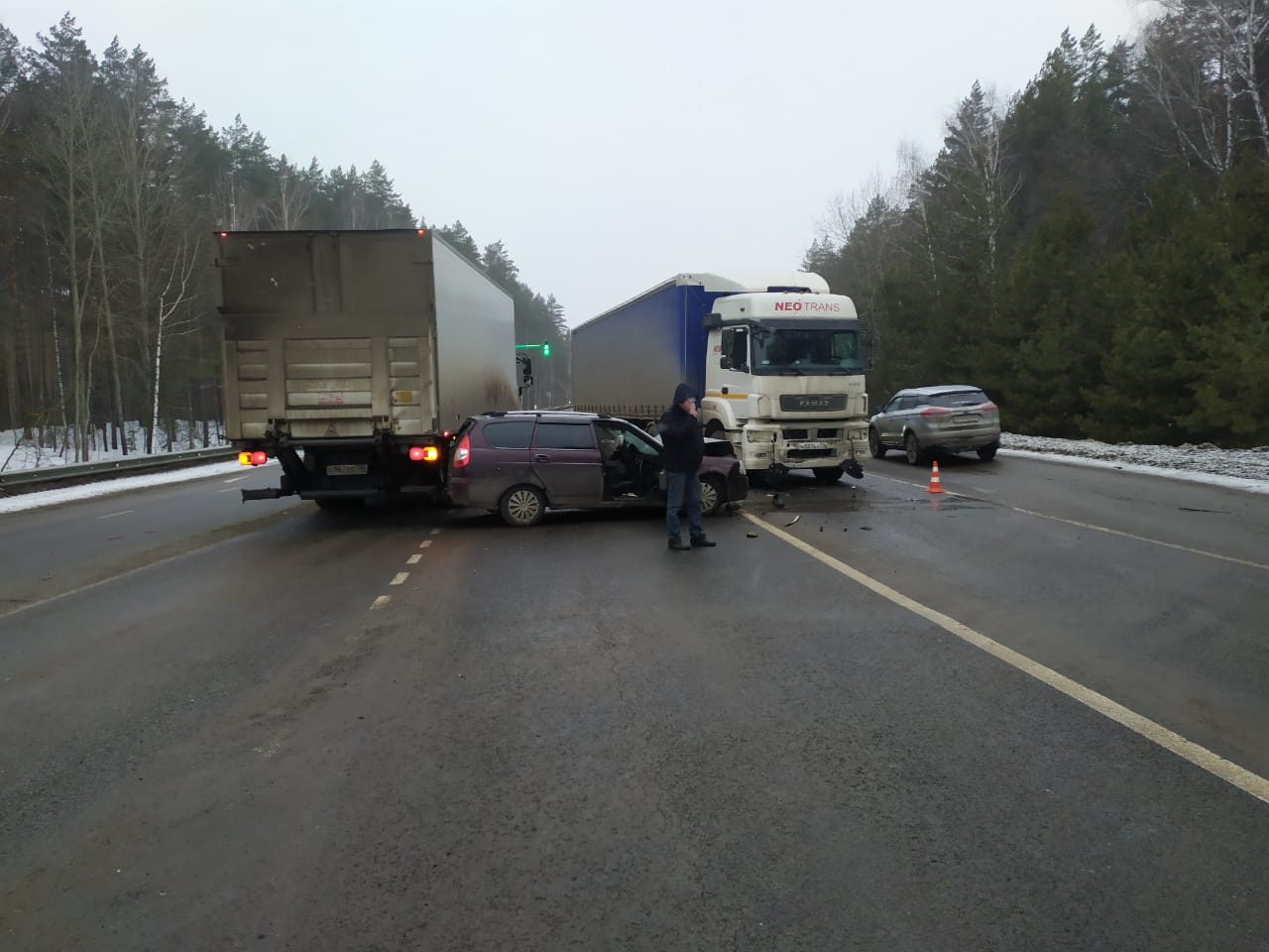 ДТП под Рассказово, фото предоставлено ГИБДД по Тамбовской области