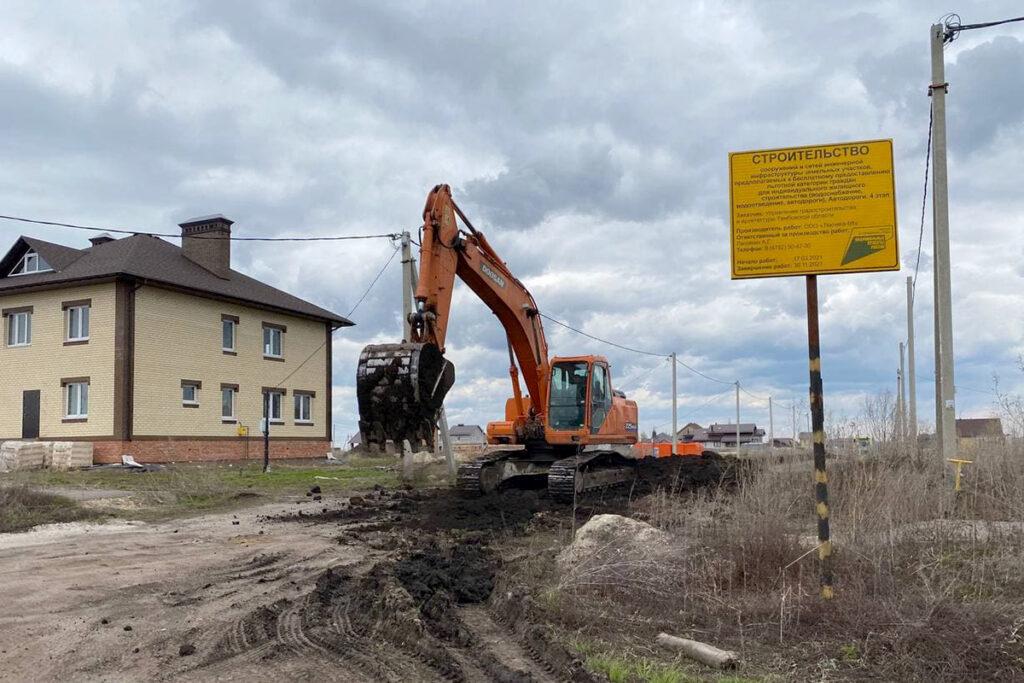 Строительство дороги на улице Хлебной в мкрн Майский - Новый Тамбов