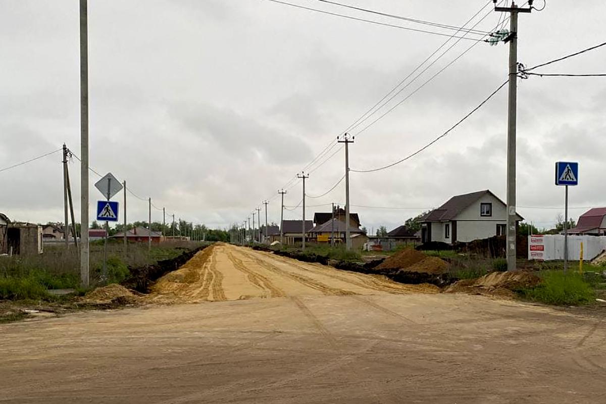 Строительство улицы Александровская в Майском - Новый Тамбов