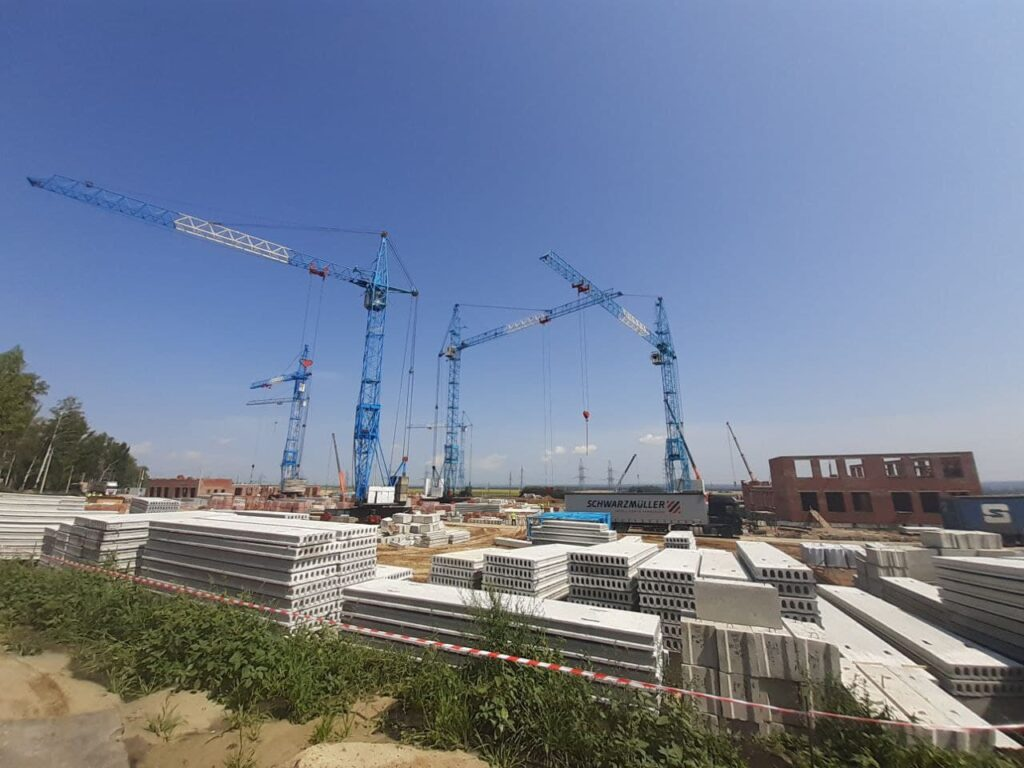 Строительство школы в Телецентре, июль 2021 года - Новый Тамбов