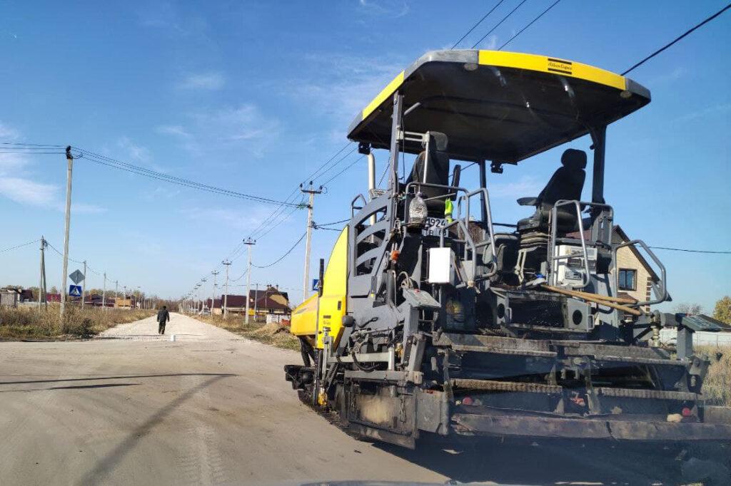 Строительство дорог в Майском - Новый Тамбов