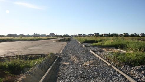 Тротуары в процессе строительства