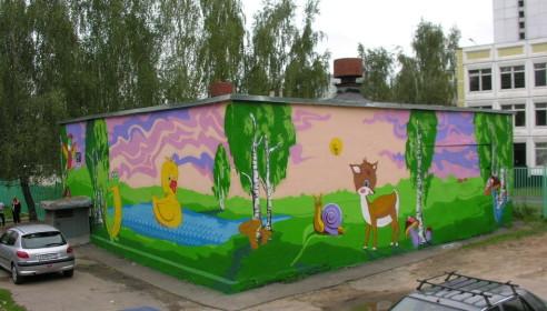 Пример оформление стен котельной в мкр Южное Бутово (Москва)