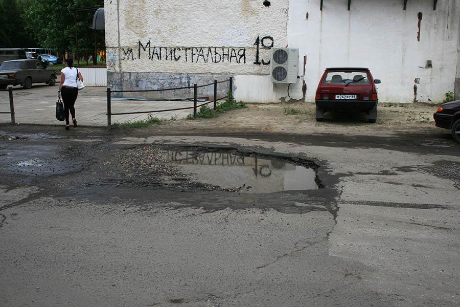 Подрядчиков заставят переделать разбитые дороги в Тамбове