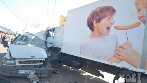 Авария на Гастелло в Тамбове 10 апреля 2013 года. Фото Житье-бытье.