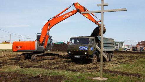 Начало строительство храма Серафима Саровского в микрорайоне Радужный
