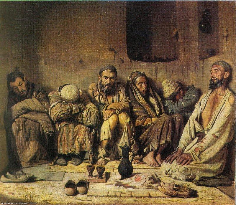 "Василий Верещагин. ""Опиумоеды"". 1868 г"