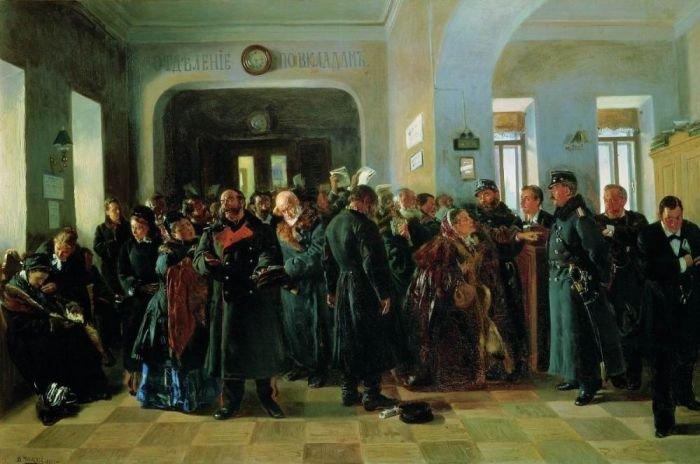"""И еще Владимир Маковский. """"Крах банка"""". 1881 г."""