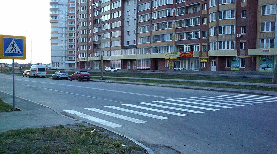Пешеходный переход на улице Агапкина