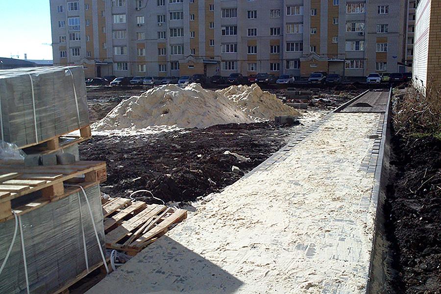Строительство детской площадки на Победы