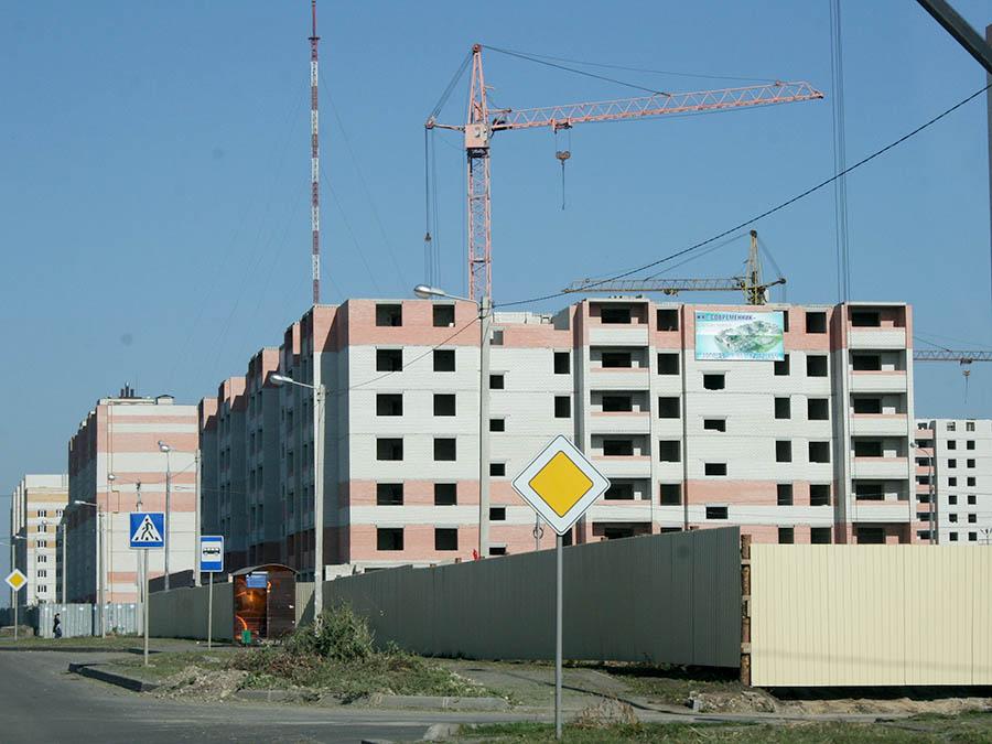 Строительство новых микрорайонов на севере Тамбова, улица Свободная