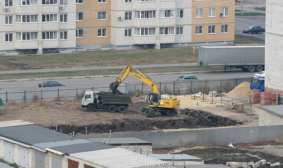 Строительство развлекательного центра на Агапкина