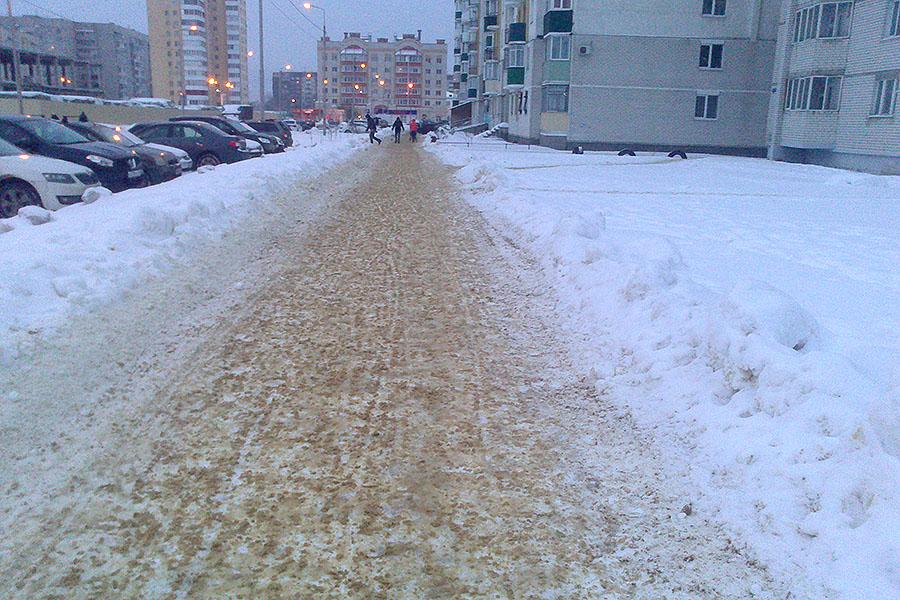 Тротуары Московского зимой
