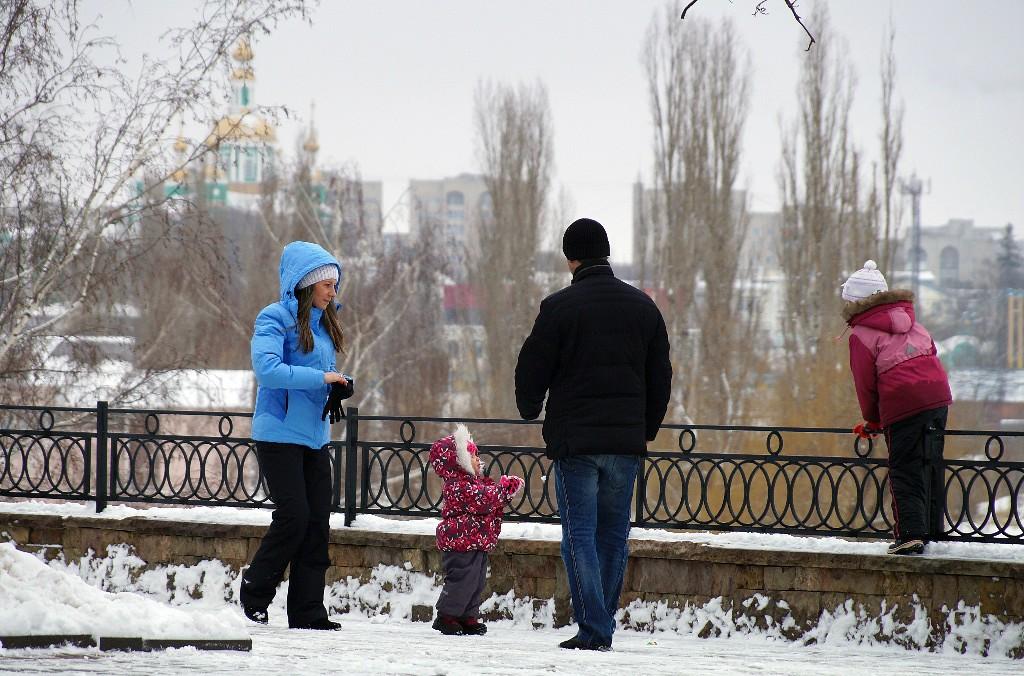 Тамбовчане зимой. Фото Владимира Якимова