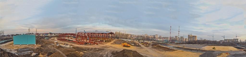 Строительство Центра единоборств. Фото Владимира Шашкина