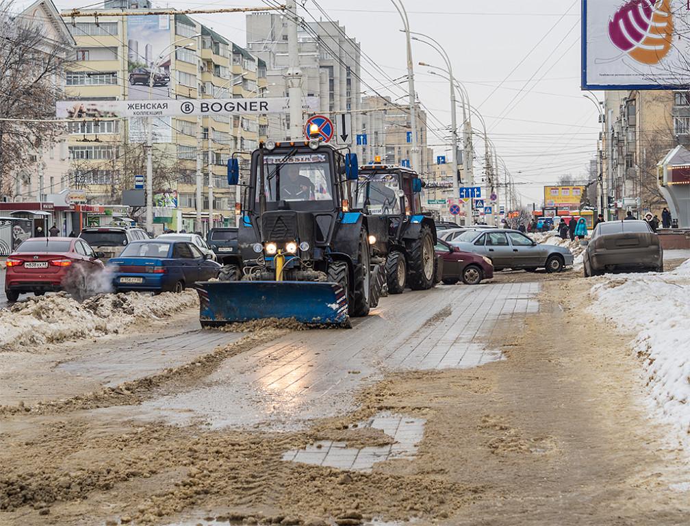 Уборка тамбовских улиц. Фото Владимира Шашкина