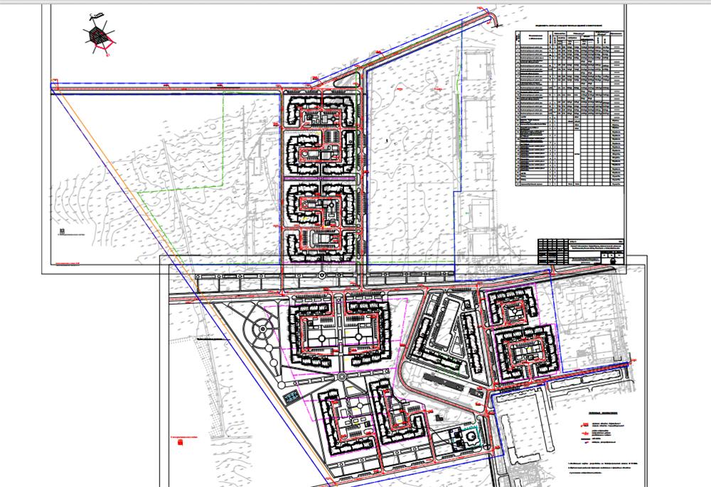 Проект планировки нового микрорайона