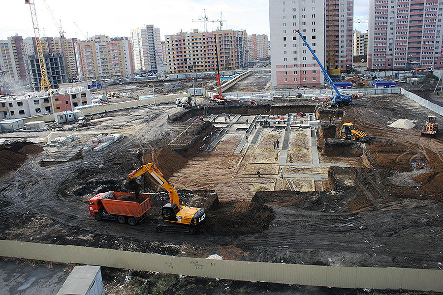 Строительство детского сада на улице Свободной, 8а