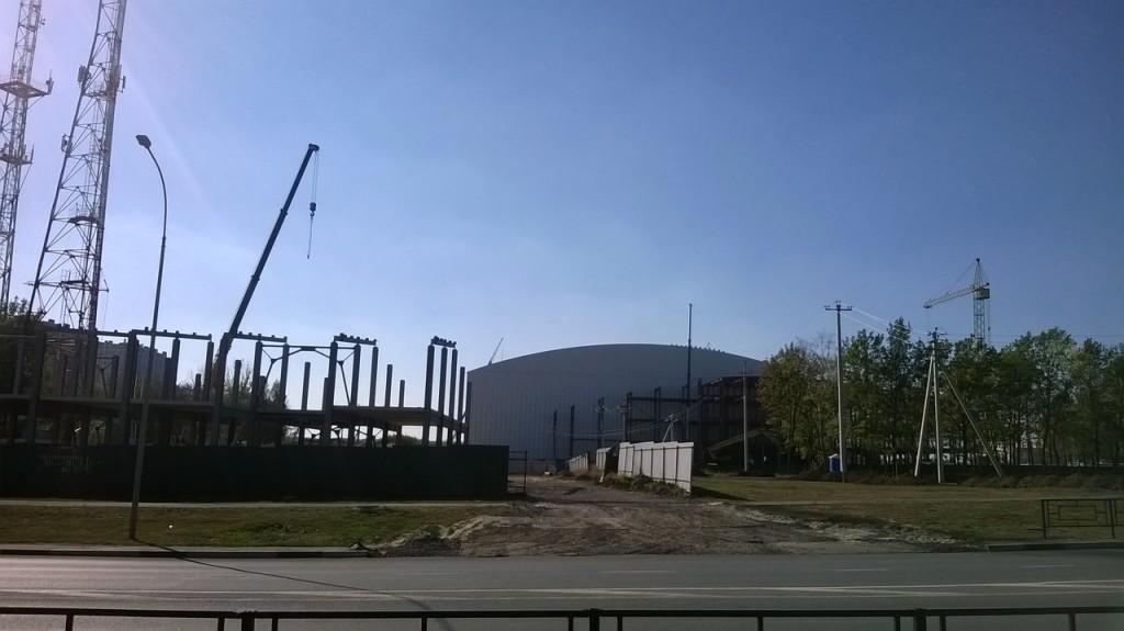 Строительство автосалона на Мичуринской